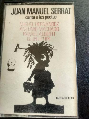 cassette de joan manuell serrat - canta a poetas (c-180