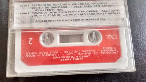 cassette de jorge yañez  -canto a todo mi pais (c-338