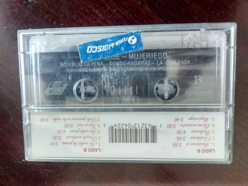 cassette de jose jose - mujeriego (c-322