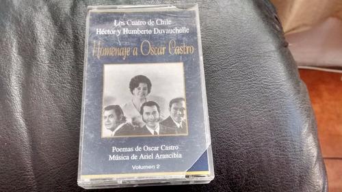 cassette de los 4 de chile homenaje a oscar castro (c-240