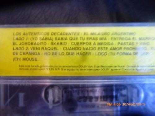 cassette de los autenticos  decadentes milagro argenti(c-228