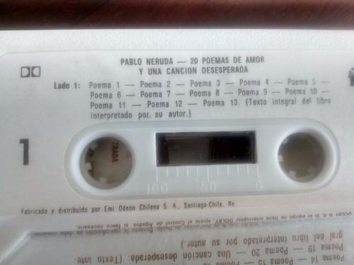 cassette de pablo neruda 20 poemas de amor (225