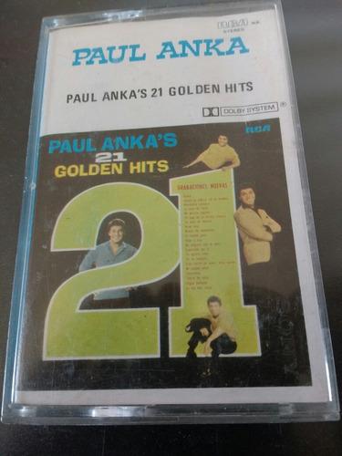 cassette de paul anka 21 grandes exitos (c-100