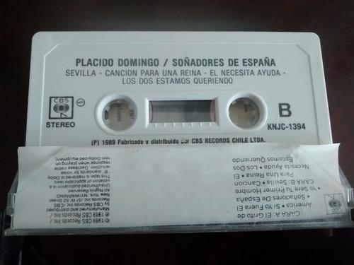 cassette de placido domingo . soñadores de españa(c-208