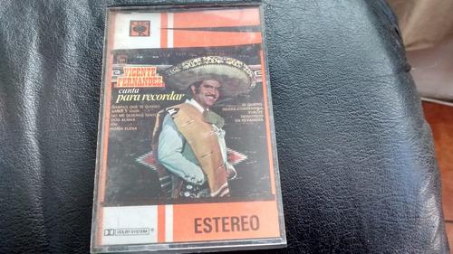 cassette de vicente fernandez  canta para recordar (c-241