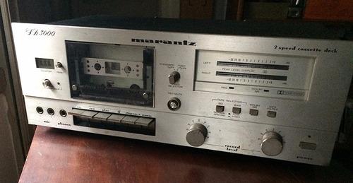 cassette deck marantz sd 3000 vintage p/ reparar o p/ partes