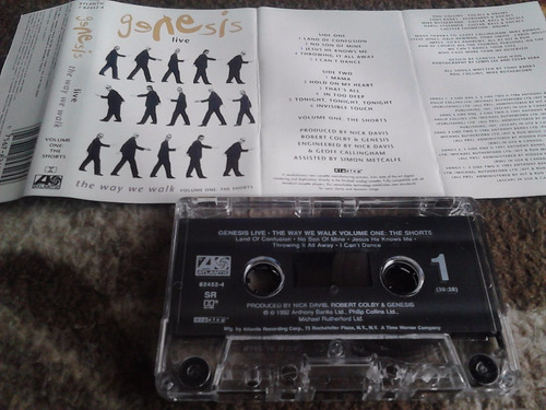 cassette genesis - live the way we walk vol1 1992 rock