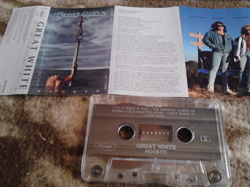 cassette great white - hooked 1991 capitol hard rock