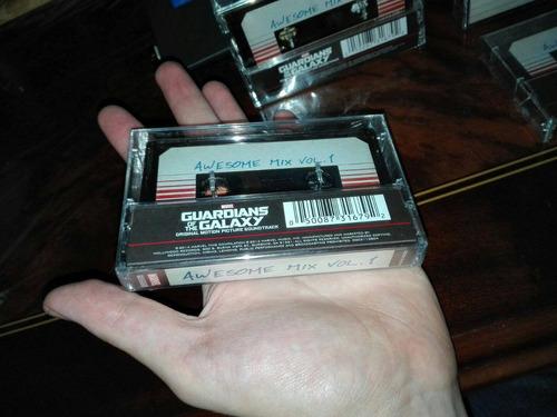 cassette guardianes de la galaxia awesome mix vol 1 ó 2