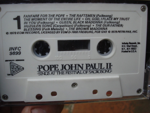 cassette juan pablo 2 - junio 1979 polonia - made in usa
