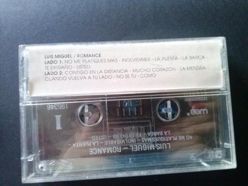 cassette luis miguel romance