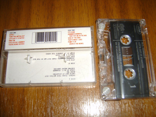 cassette m.c. hammer / let's get it started (rap - hip hop)