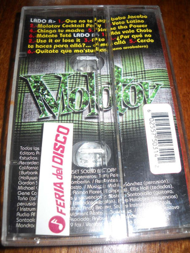 cassette molotov ¿donde jugaran.....?