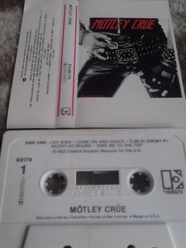 cassette motley crue - too fast for love 1982 elektra rock