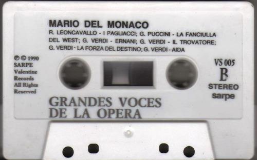 cassette, opera mario del mónaco