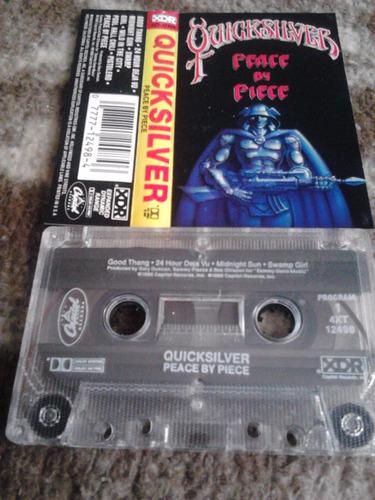 cassette quicksilver - peace by piece 1986 capitol rock