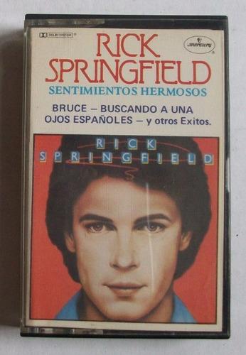 cassette rick springfield - sentimientos hermosos