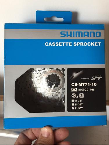 cassette shimano xt m771 10v - 11/36