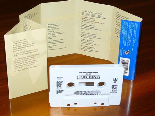 cassette sound track pelicula el rey leon importado