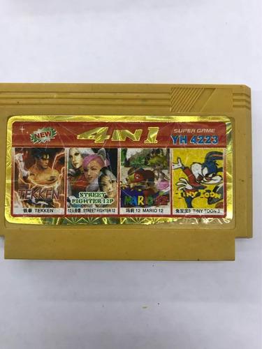 cassette super video juego nintendo 4 juegos en 1 100% nuevo