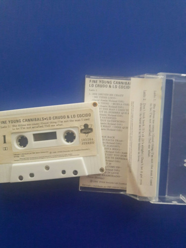 cassette tape fine young cannibals - the raw and the cooked