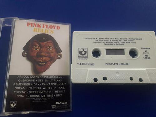 cassette tape pink floyd -  relics ed usa - inglaterra 1981