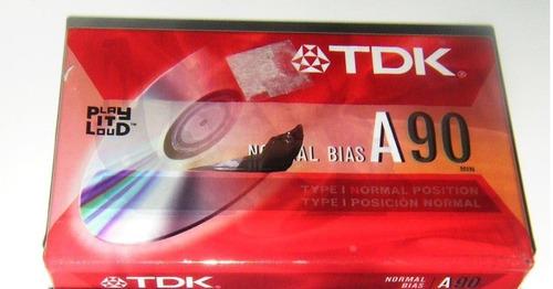 cassette tdk 90 minutos sellado