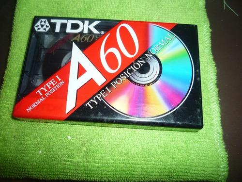 cassette tdk a60 nuevos sin abrir