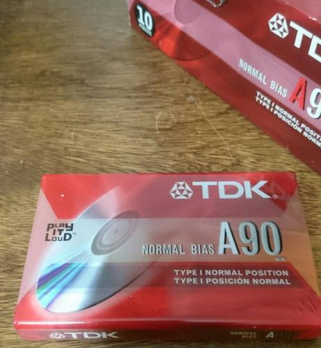 cassette tdk a90 para grabadora 90 minutos excelente calidad