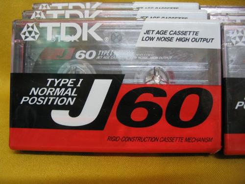 cassette tdk j60 nuevos sin abrir