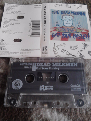 cassette the dead milkmen - eat your paisley!1986 alt rock