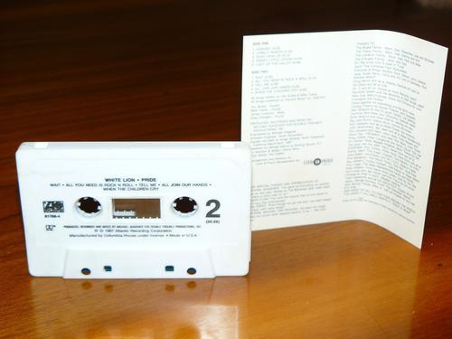 cassette white lion pride importado coleccion