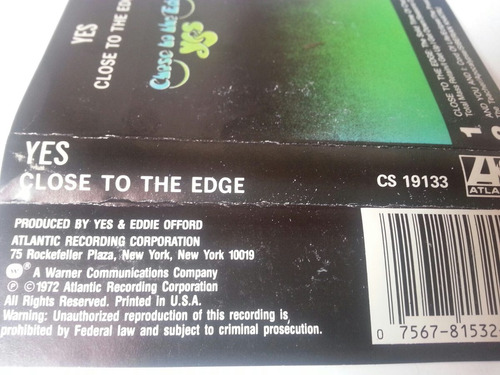 cassette yes / close to the edge
