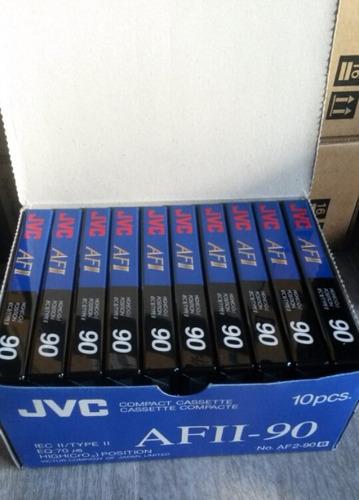 cassettes de audio jvc  60 y 90 minutos