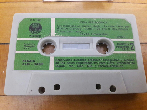 cassettes kayak - periscape life (1ra edicion)