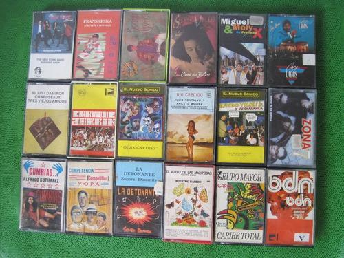 cassettes originales salsa balada pop merengue  promoción