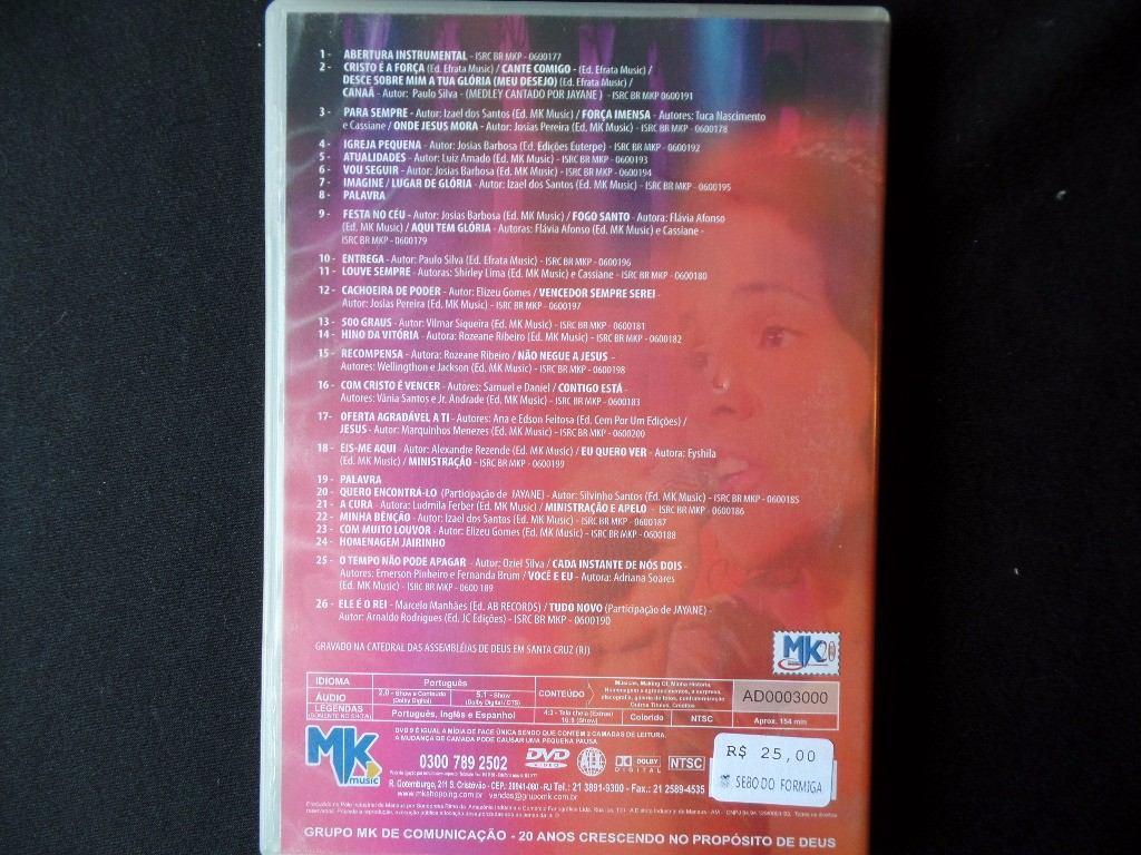 cassiane 25 anos de muito louvor audio dvd