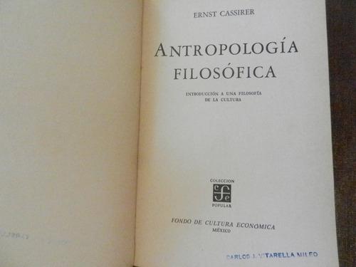 cassirer antropología filosófica