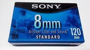 casssette sony standard 8mm 120 minutos