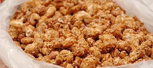 castanha caju caramelizada gergelim 1kg pronta entrega