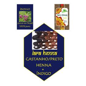 Castanho/preto - Índigo + Henna