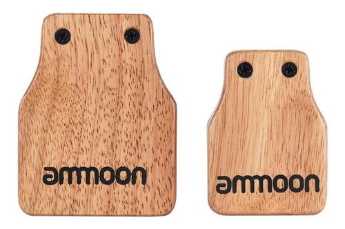 castañuela para instrumentos de percusión mano madera natu