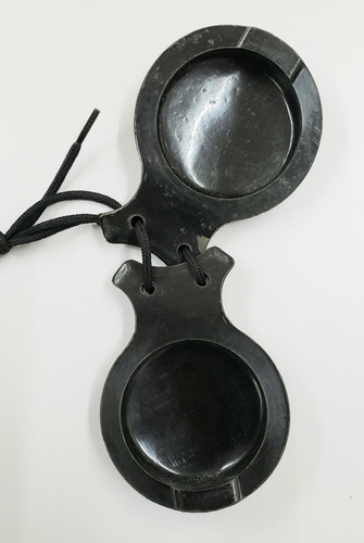 castañuelas de pasta color negro 8cms (par)