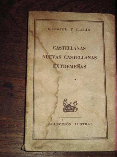castellanas gabriel y galan coleccion austral espasa calpe