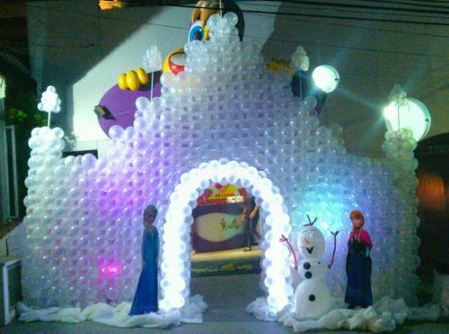 castelo da frozen em baloes