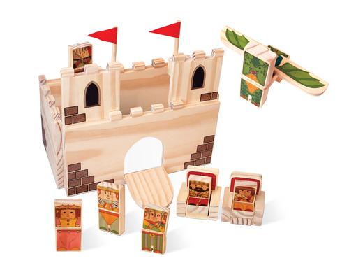 castelo do rei. brinquedo em madeira.