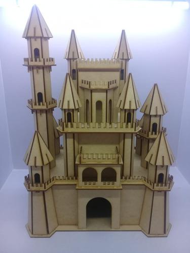 castelo em mdf cru festas enfeite princesa principe oferta
