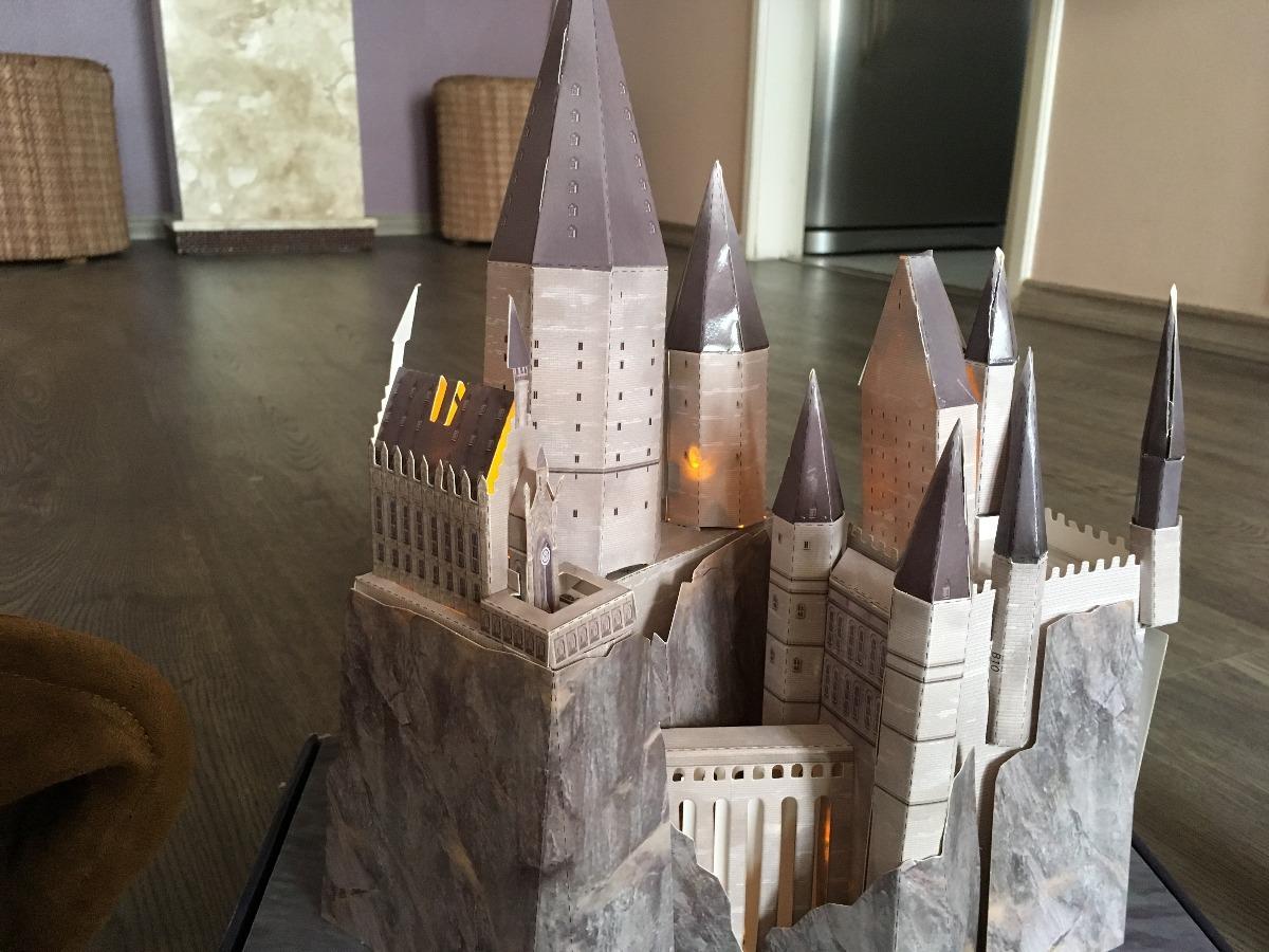 Castelo Hogwarts Em 3d Maquete Brinde R 15000 Em Mercado Livre