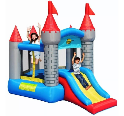 castelo medieval pula pula inflável c// escorregador 110v