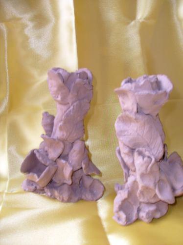 castiçais em terracota virgem (o par)